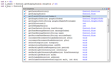 Java Code Auto-Completion wie bereits bisher beim iLCD Manager XE